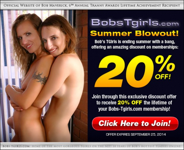 bobstgirls summer discount 600x491 Grooby Exclusive Deal: Score 20% Off at Bob's TGirls.com
